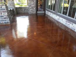 Stain Old Concrete Patio by Concrete Stain Polish Resurface Refinish Arlington Tx Raleys