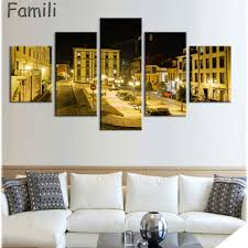 spain architecture canvas painting 5pieces wall art scenery