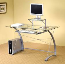 Modern Computer Desk by Stylist And Modern Computer Desk With Clear Tempered Glass And