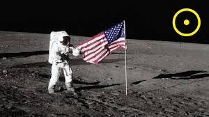 Moon Flag From Earth Placing The American Flag On The Moon Youtube