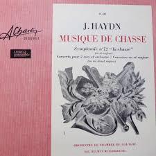 chambre de chasse j haydn musique de chasse by orchestre de chambre de cologne lp