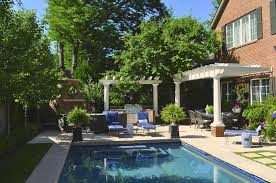 enchanting swimming pool area design inspirations with decorating