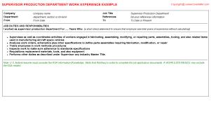 Door To Door Sales Resume Sample Supervisor Production Department Cv Work Experience