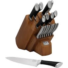 kitchen knives block chicago cutlery fusion 18 block set walmart com