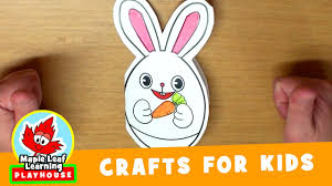 easter bunny card craft for kids maple leaf learning playhouse