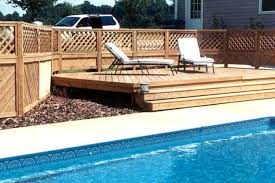 Backyard Pool Fence Ideas Backyard Fences And Decks Home Outdoor Decoration