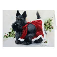 scottish terrier merry christmas gifts shirts art posters