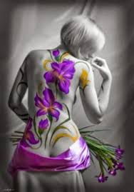 large purple flower tattoo on woman u0027s pinterest
