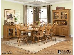 No Dining Room brooks furniture dining room laminate top double pedestal table