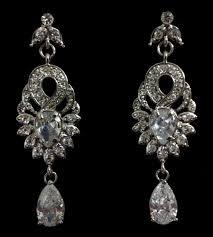 gatsby bridal earrings art deco nouveau wedding jewelry empire