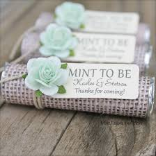 mint to be wedding favors personalized wedding favors burlap wedding favors mint to be