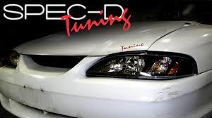 ebay mustang headlights specdtuning installation 1994 1998 ford mustang 1