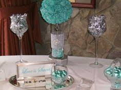 Tiffany Blue Wedding Centerpiece Ideas by I Crafted These Custom Glass Vase Centerpieces To Match Wedding Or