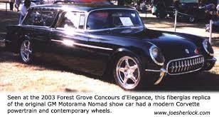 pontiac corvette concept 1954 chevrolet nomad concept car