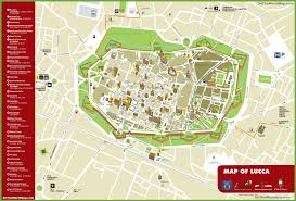 Map Of Genoa Italy by Lucca Tourist Attractions Map
