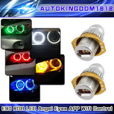 ring light effect app wifi app control cree for bmw e90 80w rgb led angel eyes halo ring