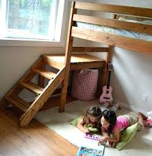 Wooden Bunk Bed With Stairs Bunk Beds With Steps Bikepool Co