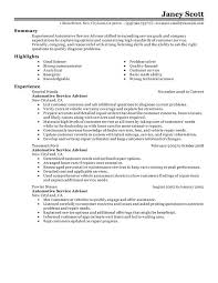 How To Make A Good Fake Resume Unforgettable Customer Service Advisor Resume Examples To Stand