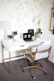 Buy Desk Accessories by Desk White And Gold Desk In Magnificent Glamorous Desk