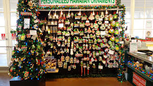 hawaiian ornaments at dole plantation gift shop mele