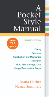 a pocket style manual 2016 mla update edition 9781319083526