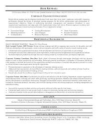 sle corporate trainer resume sle to