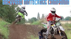 professional motocross racing backyard dirtbike track with pro motocross riders youtube