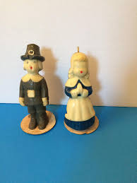pilgrim candles thanksgiving thanksgiving pilgrim candles gurley woman vintage for sale