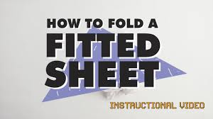 how to fold a fitted sheet an instructional video by hunting for