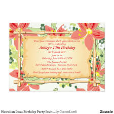 hawaiian luau birthday party invitation birthday party