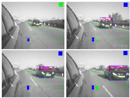 Car Blind Spot Detection Example Of Blind Spot Detection In A Sequence Of Images The