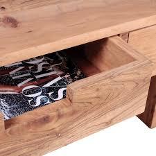 Wohnzimmertisch Mit Stauraum Finebuy Couchtisch Massivholz Design Wohnzimmer Tisch 110 X 60 Cm