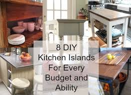 easy kitchen island plans 8 diy kitchen islands for every budget and ability blissfully
