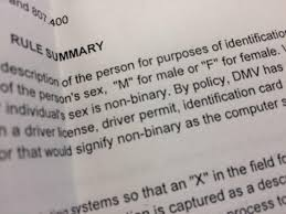 non binary u0027 could become 3rd gender option on oregon driver u0027s