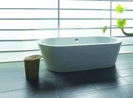 akdy f224 bathroom white color free standing acrylic bathtub