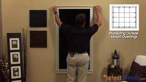 how to measure for window shutters from selectblinds com youtube