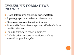 Resume Length How To Design An Effective Cv Ppt Video Online Download