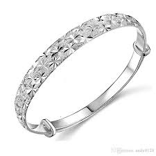 silver fine bracelet images 925 sterling silver bangles chinese style women charm flower jpg