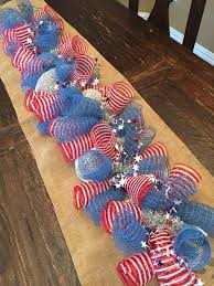 Fourth Of July Door Decorations Fourth Of July Garland Deco Mesh Garland Deco Mesh Wreath