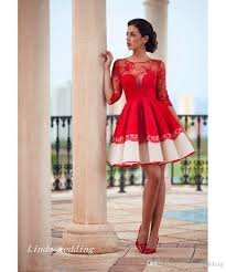 2016 red lace cocktail dress spanish style short formal party
