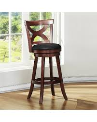 29 Bar Stools With Back Incredible Deal On Crosby Cherry X Back 29 Inch Swivel High Back