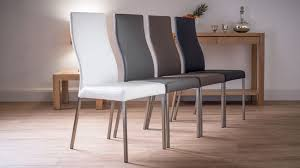 Metal And Leather Dining Chairs Exquisite Modern Real Leather Dining Chairs Genuine Soft Metal