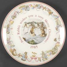 wedgwood rabbit wedgwood rabbit christmas plate at replacements ltd