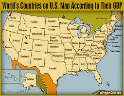 map us states world economies world countries on us map to each according to their