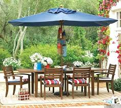 patio table and chairs with umbrella hole rectangular patio table umbrella rectangular patio umbrella outdoor