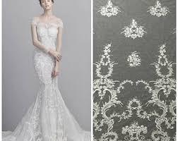bridal lace fabric etsy