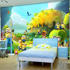 minion wall mural promotion shop for promotional minion wall mural cartoon photo wallpaper minions wallpaper custom 3d wall mural kids bedroom decor children s playground despicable me wallpaper