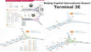 Map International Beijing Capital International Airport Terminal 3e Map