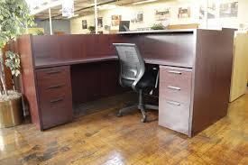 Hon Reception Desk Hon Mahogany Laminate L Shaped Reception Desk Peartree Office