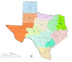 Texas Capitol Map Texas Railroad Commission Districts And Oil And Gas Map Of Texas